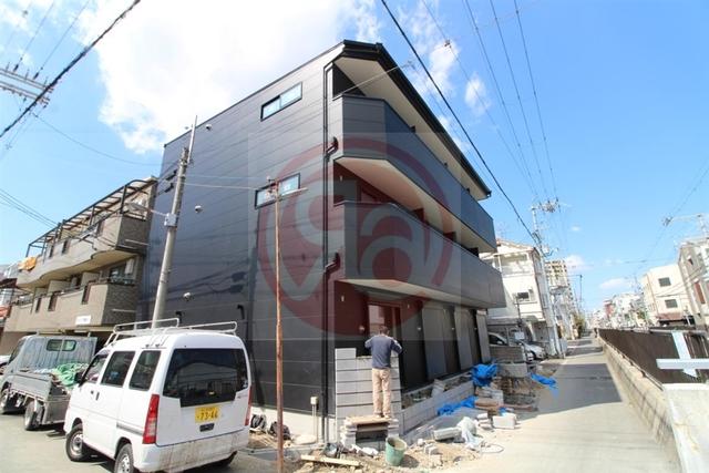 大阪市東住吉区東田辺2丁目の賃貸アパートの外観