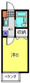エミネンストーアI1階Fの間取り画像