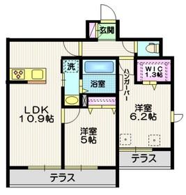 (仮称)八潮市南川崎メゾン1階Fの間取り画像