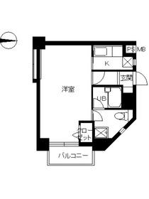スカイコート高田馬場第25階Fの間取り画像