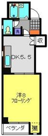 反町KTビル3階Fの間取り画像