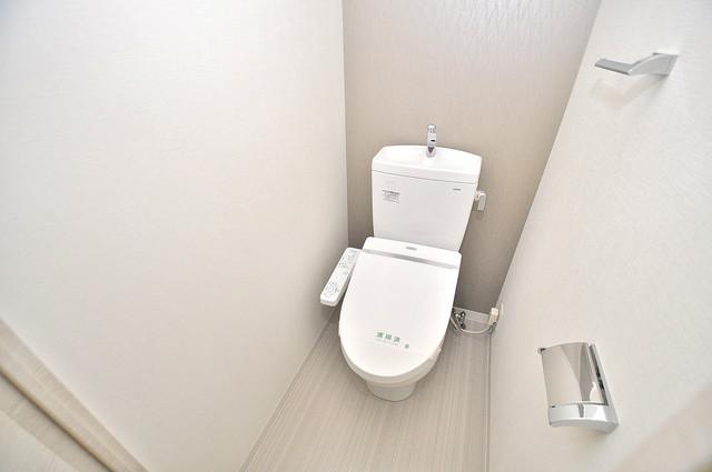 サムティ大阪GRAND EAST 清潔感のある爽やかなトイレ。誰もがリラックスできる空間です。