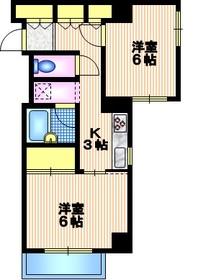 アンビエンス世田谷8階Fの間取り画像