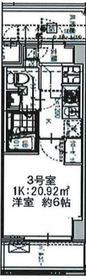 エルスタンザ大口4階Fの間取り画像