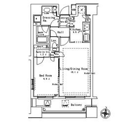パークアクシス御茶ノ水ステージ4階Fの間取り画像