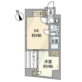 PATIO東新宿5階Fの間取り画像