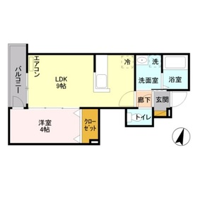 ハウス221階Fの間取り画像