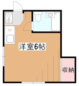 メゾン・ド・ヴェール2階Fの間取り画像