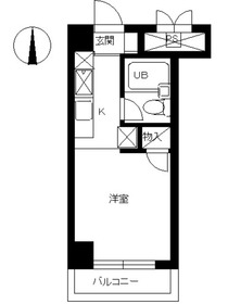 スカイコート金沢文庫4階Fの間取り画像
