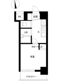 スカイコート高田馬場第511階Fの間取り画像