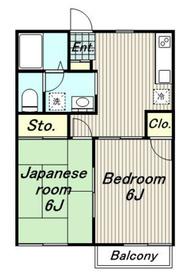 サンクリード高幡2階Fの間取り画像