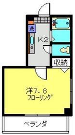 ホワイトウェル2階Fの間取り画像