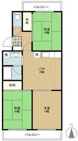 高座渋谷駅 徒歩7分2階Fの間取り画像