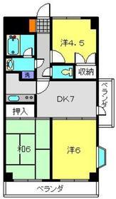 ソワレ・ド・ハマミエステートビル4階Fの間取り画像