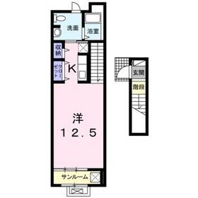 マルベリーヴィラ2階Fの間取り画像