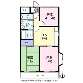 角田ビル4階Fの間取り画像