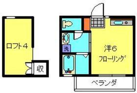 司コーポ1階Fの間取り画像
