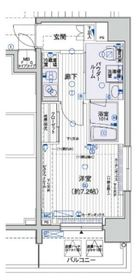 メインステージ横浜8階Fの間取り画像