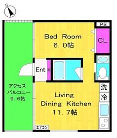 京王稲田堤駅 徒歩10分3階Fの間取り画像