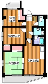 クレール赤塚2階Fの間取り画像
