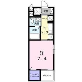 長津田駅 徒歩7分2階Fの間取り画像