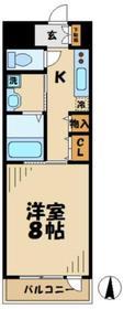グリーンバレー唐木田2階Fの間取り画像