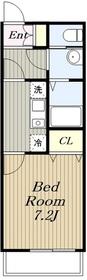 リヴィエール湘南Ⅲ1階Fの間取り画像