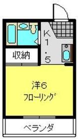 新川崎駅 徒歩3分2階Fの間取り画像
