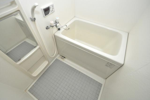 フォワイエ ちょうどいいサイズのお風呂です。お掃除も楽にできますよ。
