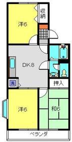 コージーコート2階Fの間取り画像