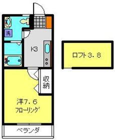 ウィローYH2階Fの間取り画像