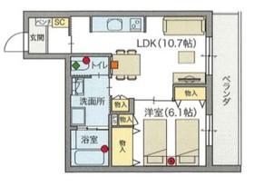 (シニア限定)へーベルVillage 祖師谷一丁目3階Fの間取り画像
