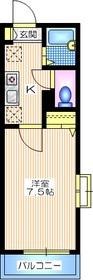 ヴィラ レンガ坂2階Fの間取り画像