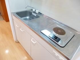 キッチンは一口電気ガスコンロ付です