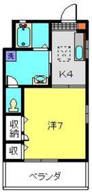上星川駅 徒歩16分1階Fの間取り画像