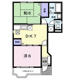 サニーハウス1階Fの間取り画像