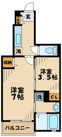 コリーヌM1階Fの間取り画像