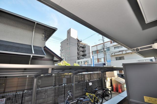 セジュールオッツ八戸ノ里 この見晴らしが陽当たりのイイお部屋を作ってます。