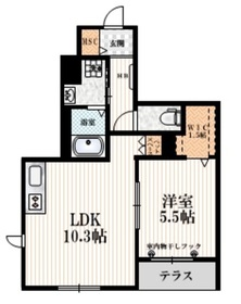 MY MAISON1階Fの間取り画像