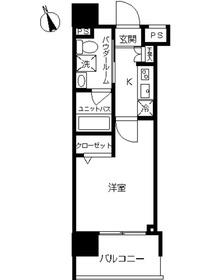 スカイコート川崎西口26階Fの間取り画像