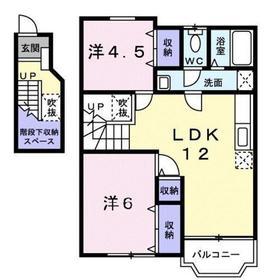 シャンソレイユ2階Fの間取り画像