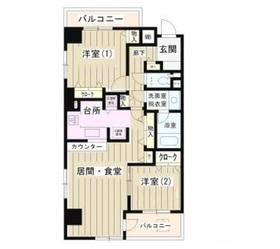 フォンティーヌ川崎3階Fの間取り画像