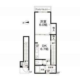 (仮称)東向島3丁目計画2階Fの間取り画像