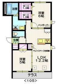 ファミーユⅠ1階Fの間取り画像