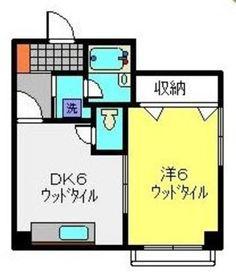 鹿島田駅 徒歩12分3階Fの間取り画像