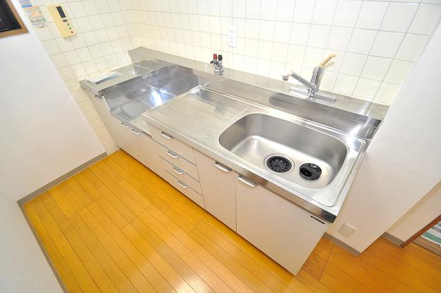 カーサ山野 大きなキッチンはお料理の時間を楽しくしてくれます。