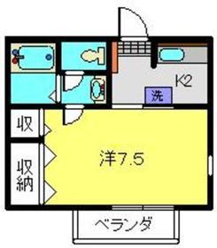 ディアコート日吉2階Fの間取り画像