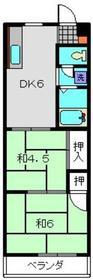 吉野町駅 徒歩10分4階Fの間取り画像