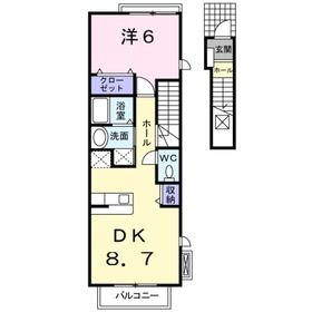 メゾンオーブ2階Fの間取り画像