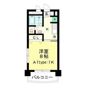 ヱビスヤパークサイド10階Fの間取り画像